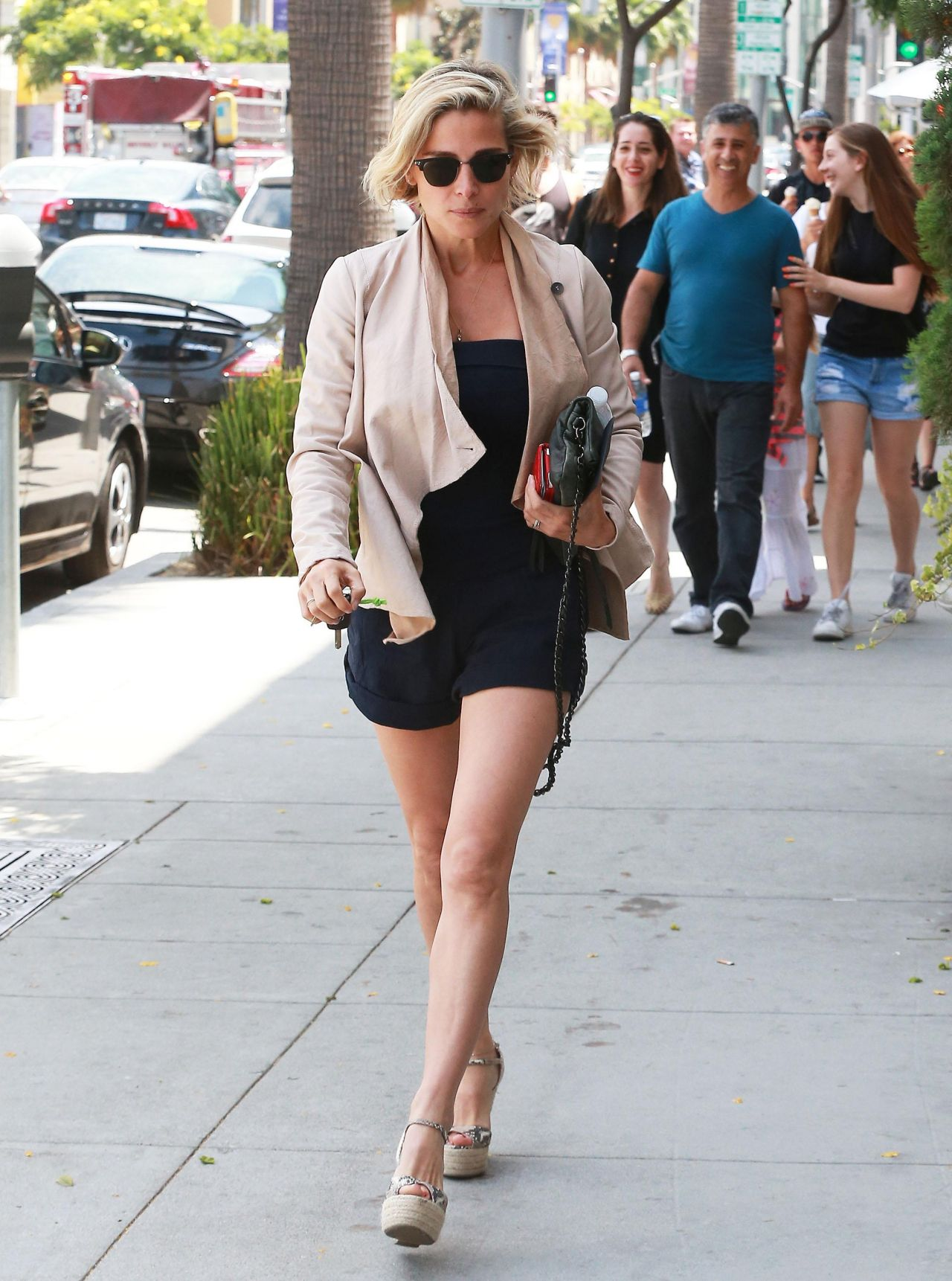 Elsa Pataky Hot Legs Shopping In Beverly Hills August 2014