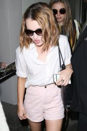 Emily Browning Arrives in New York City - August 2014