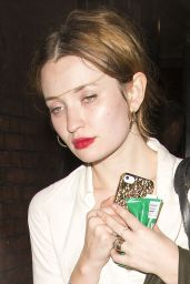 Emily Browning Style - Leaving Shoreditch House in London - August 2014