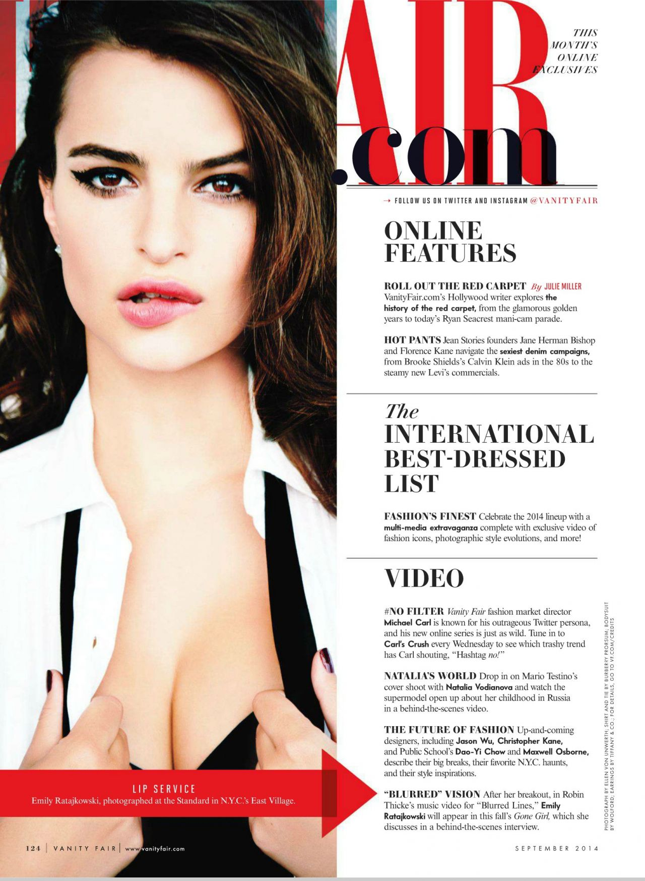 High Quality Emily Ratajkowski U2013 Vanity Fair Magazine September 2014