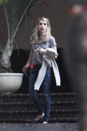 Emma Roberts - Outside Chateau Marmont in Los Angeles - August 2014