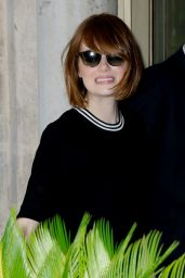 Emma Stone Out in Venice (Italy) - August 2014