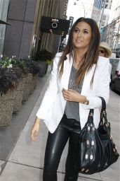 Emmanuelle Chriqui in Shiny Latex Leggins - Out in New York City - Aug. 2014