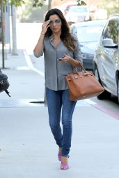 Eva Longoria in Tight Jeans - Out in LA, August 2014