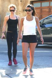 Eva Longoria shows off Her Body - Outside a Gym in Los Angeles - August 2014