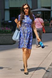 Famke Janssen - Out in New York City - August 2014
