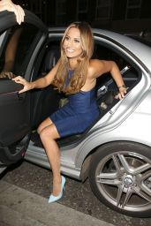 Ferne McCann Night Out Style - Arriving at Sugar Hut in Brentwood - August 2014