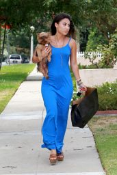 Francia Raisa Summer Style - Out in Los Angeles, August 2014