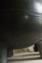 Georgina Leonidas - Harry Potter Cauldron in the Cloisters at Lacock Abbey in Wiltshire