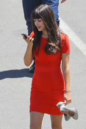 Hannah Simone - New Girl Film Set Photos - Los Angeles, August 2014