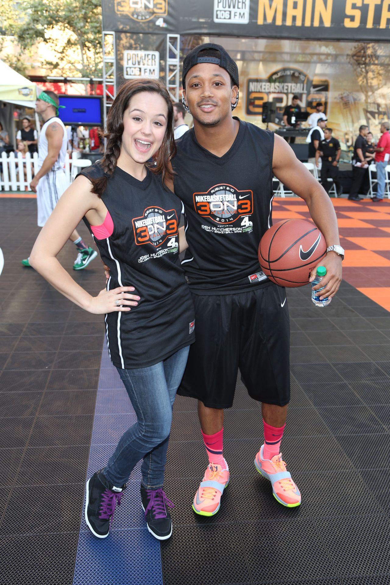 Maserati Las Vegas >> Hayley Orrantia -2014 Josh Hutcherson Celebrity Basketball ...
