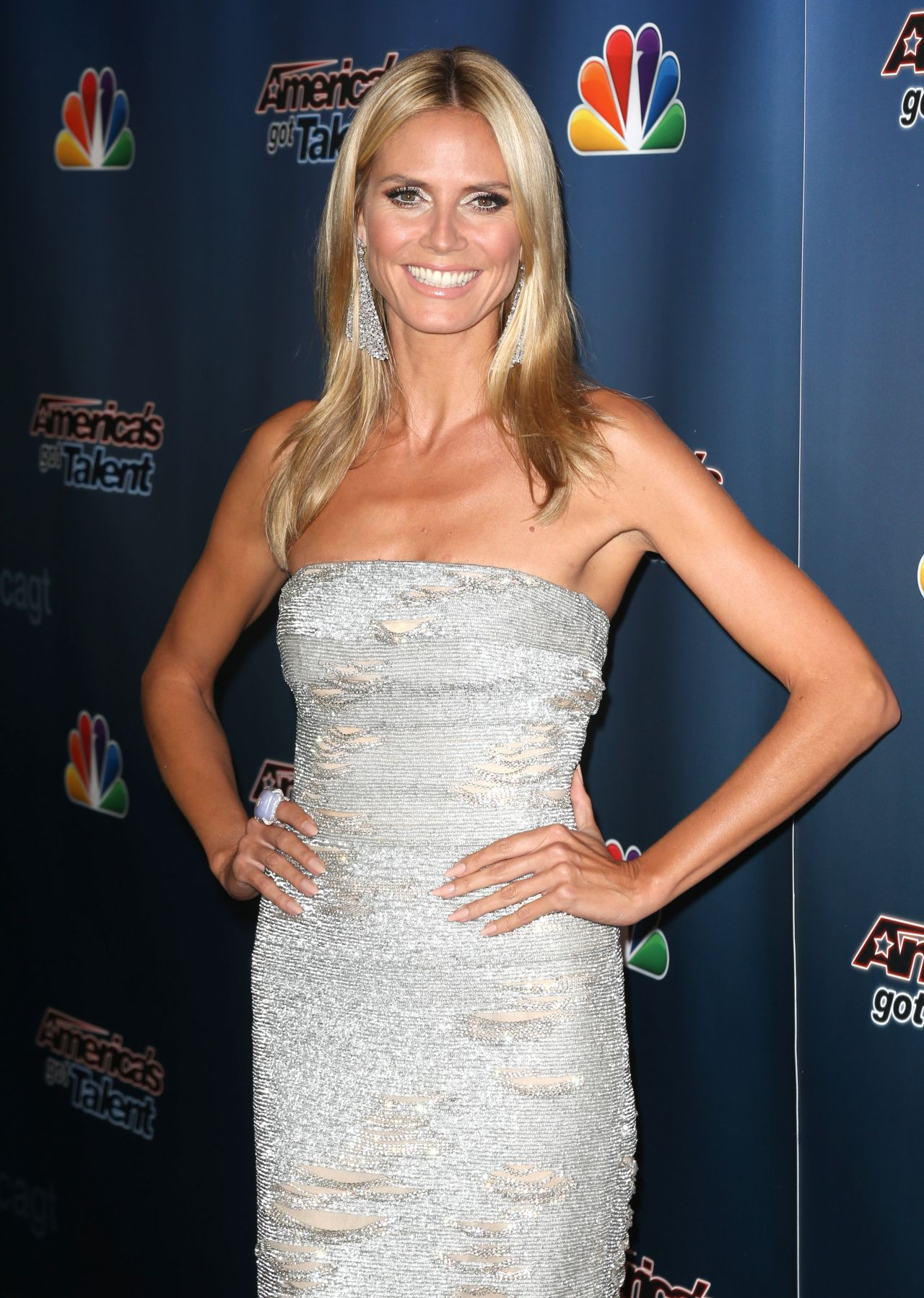 Heidi Klum – 'America's Got Talent' Post-Show Red Carpet in New York City – August 2014
