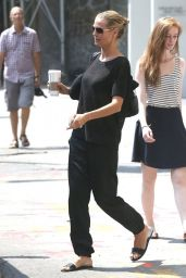 Heidi Klum Street Style - Out in NYC, Aug. 2014