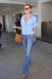 Heidi Klum Style - at LAX Airport - August 2014