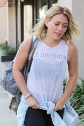Hilary Duff Street Style - Heads to the Gym in West Hollywood - August 2014