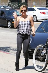 Hilary Duff  Street Style - Out in Beverly Hills - August 2014