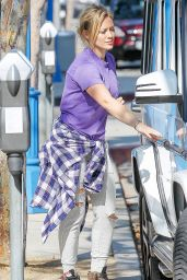Hilary Duff Street Style - Out in West Hollywood - August 2014