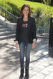 Italia Ricci - Stand Up to Cancer Press Conference in Los Angeles - August 2014