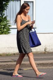 Jacqueline Jossa in Sundress - Outside the Elstree Studios in London - August 2014