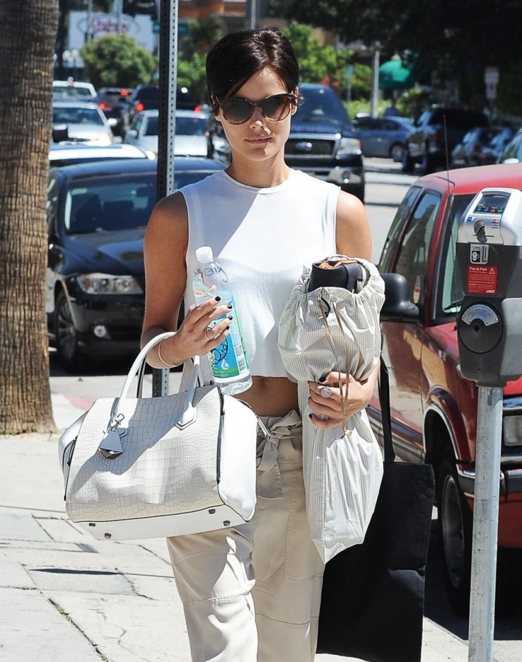 Jaimie Alexander Street Style - Out in Los Angeles, August 2014