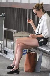 Jena Malone in Shorts - LAX Airport, August 2014