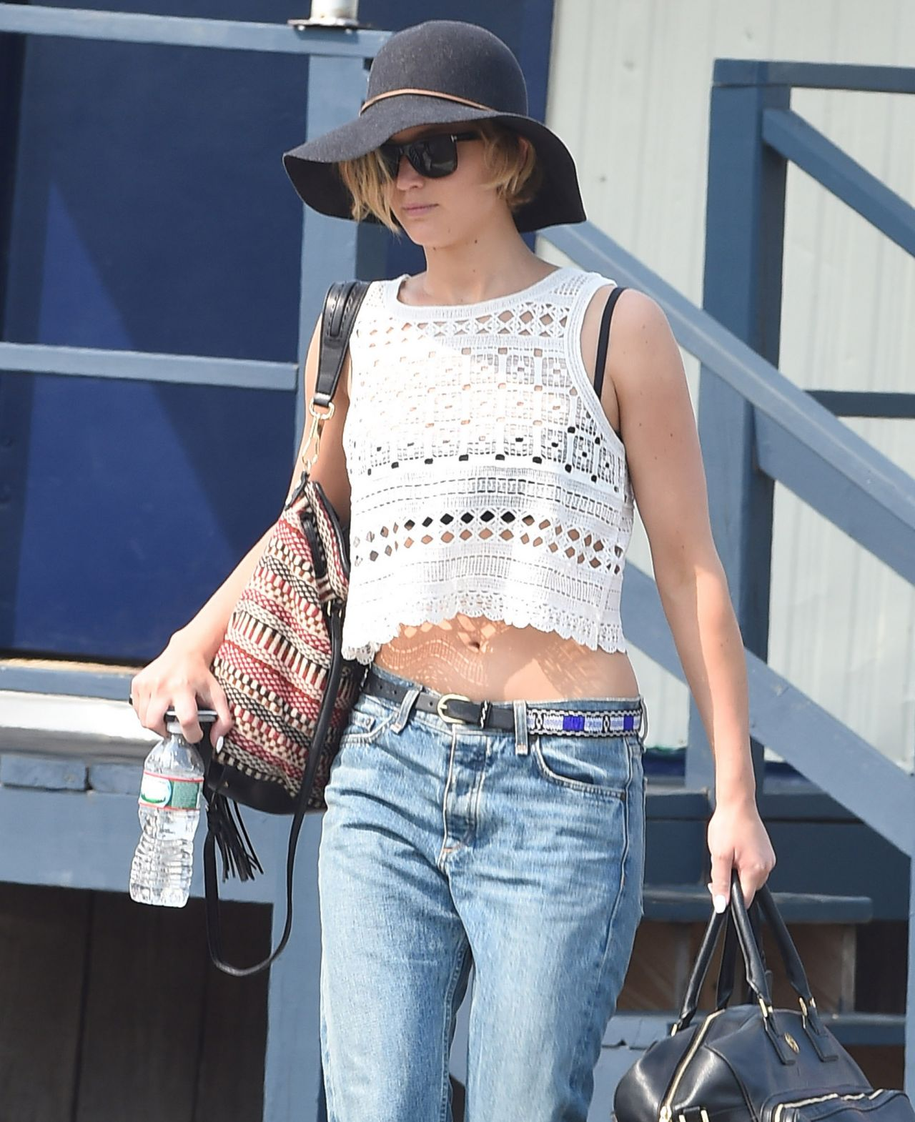Jennifer Lawrence In Jeans Out In New York City August