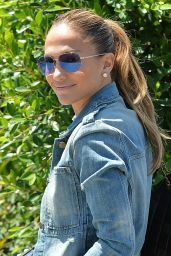 Jennifer Lopez Style - Out in Brentwood - August 2014