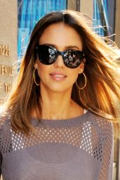 Jessica Alba at SiriusXM Studio in New York City - August 2014