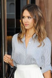 Jessica Alba Casual Style - Out in New York City, August 2014