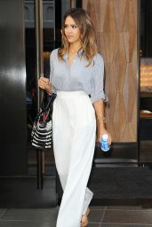 Jessica Alba Casual Style - Out in New York City - August 2014