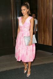 Jessica Alba Style - Heads to ABC Studios in New York City - August 2014