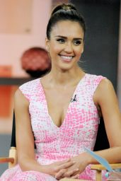 Jessica Alba Visits Good Morning America Promoting