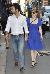 Jessica Chastain and Gian Luca Passi - Out in New York City - August 2014