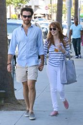 Jessica Chastain and Her Boyfriend Gian Luca Passi de Preposulo - Out in Beverly Hills - August 2014