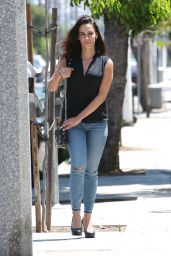 Jessica Lowndes in Skinny Jeans Out in West Hollywood - July 2014
