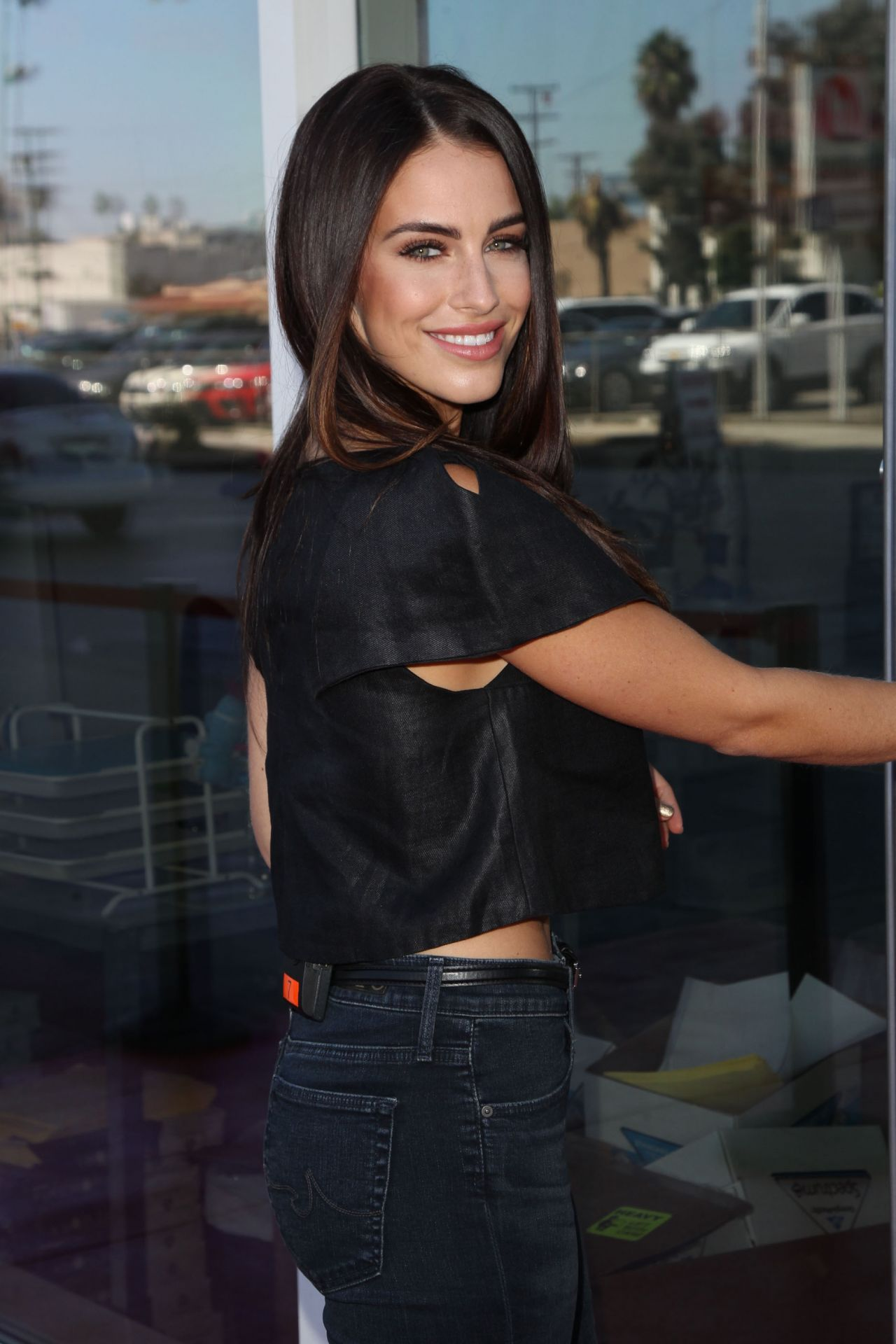 Jessica Lowndes Style - at Hollywood Today Live Studios in Los Angeles