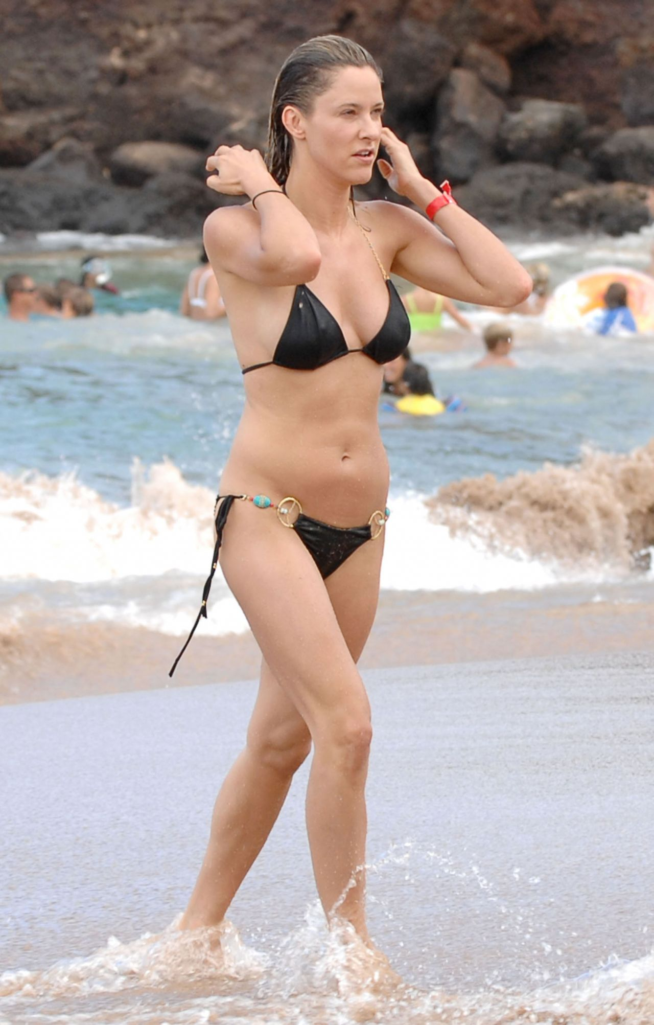 Jill Wagner Bikini Candids Beach In Maui August 2014