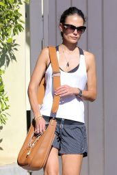 Jordana Brewster - Leaving the Gym in West Hollywood - August 2014
