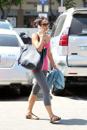 Jordana Brewster Street Style - Out in West Hollywood - August 2014