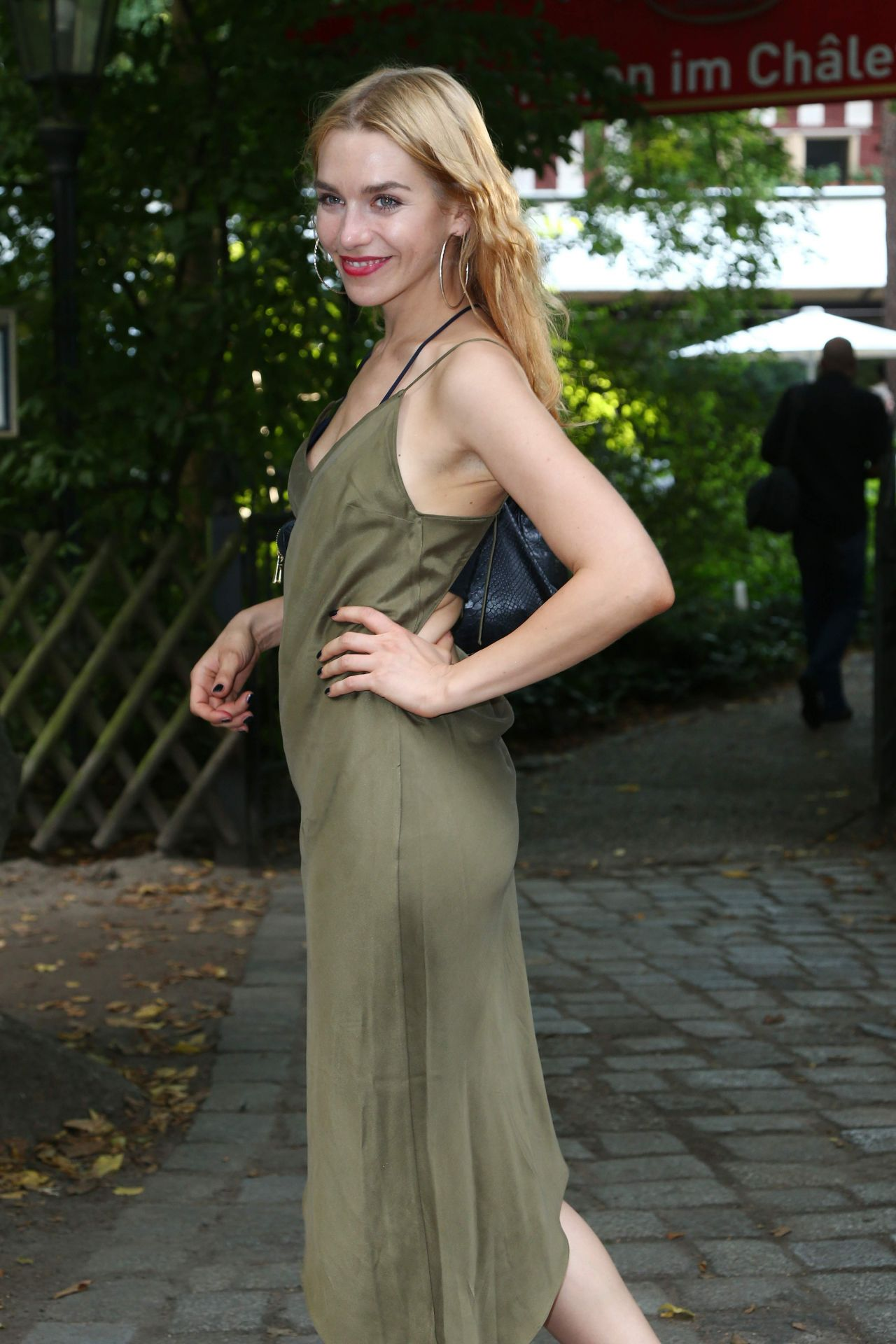 Julia Dietze at 50th birthday of Jan Josef Liefers - Berlin, August 2014