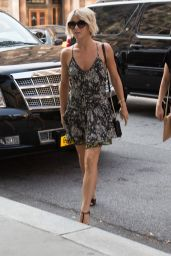 Julianne Hough in Mini Dress Out in New York City - August 2014