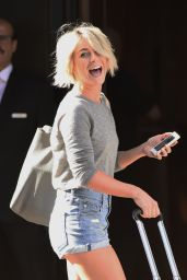 Julianne Hough in Shorts at Her Hotel in New York City - August 2014