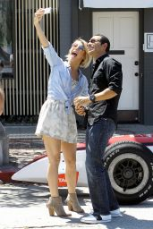 Julianne Hough - Taking Selfies with Helio Castroneves (IndyCar Series) in Los Angeles