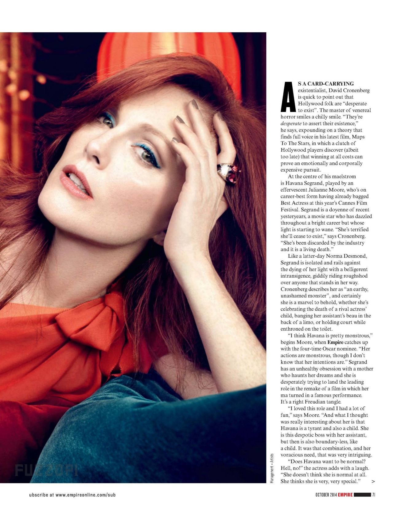 Julianne Moore – Empire Magazine – October 2014 Issue