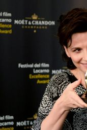 Juliette Binoche - Photocall at the 67th Locarno Film Festival - August 2014