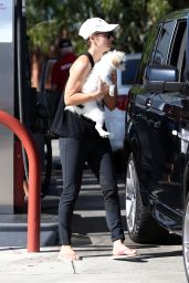 Kaley Cuoco at a Gas Station in Los Angeles - August 2014