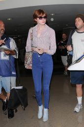 Karen Gillan in Tight Jeans - LAX Airport, August 2014