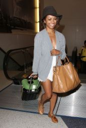 Kat Graham at LAX Airport - August 2014