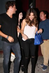 Kate Beckinsale Night Out Style - Leaving Largo in West Hollywood - August 2014
