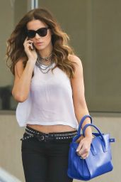 Kate Beckinsale Style - at E. Baldi Restaurant in Beverly Hills - Aug. 2014